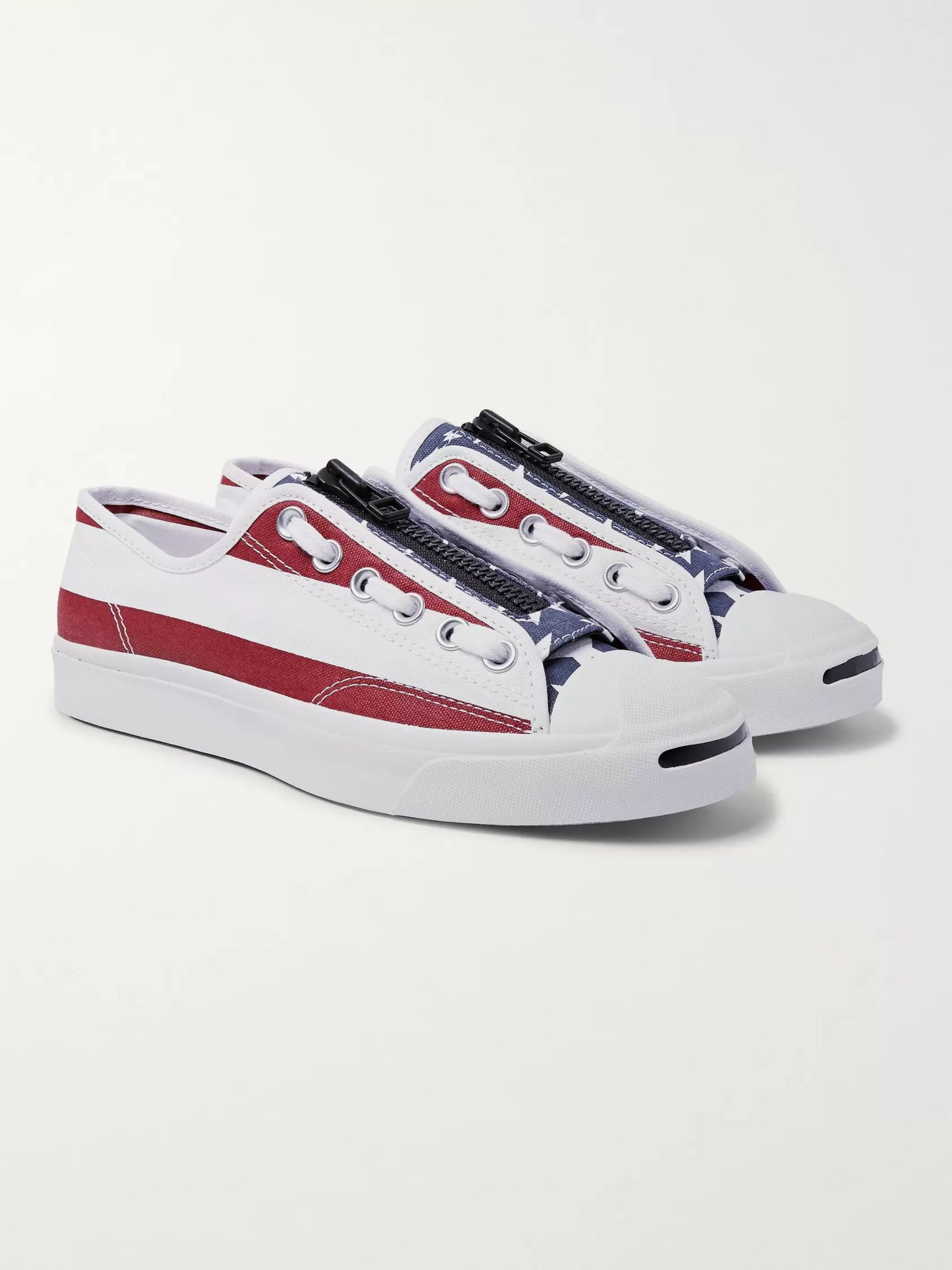 e6e12792e2665 + TAKAHIROMIYASHITA TheSoloist. Jack Purcell Zip Printed Canvas Sneakers