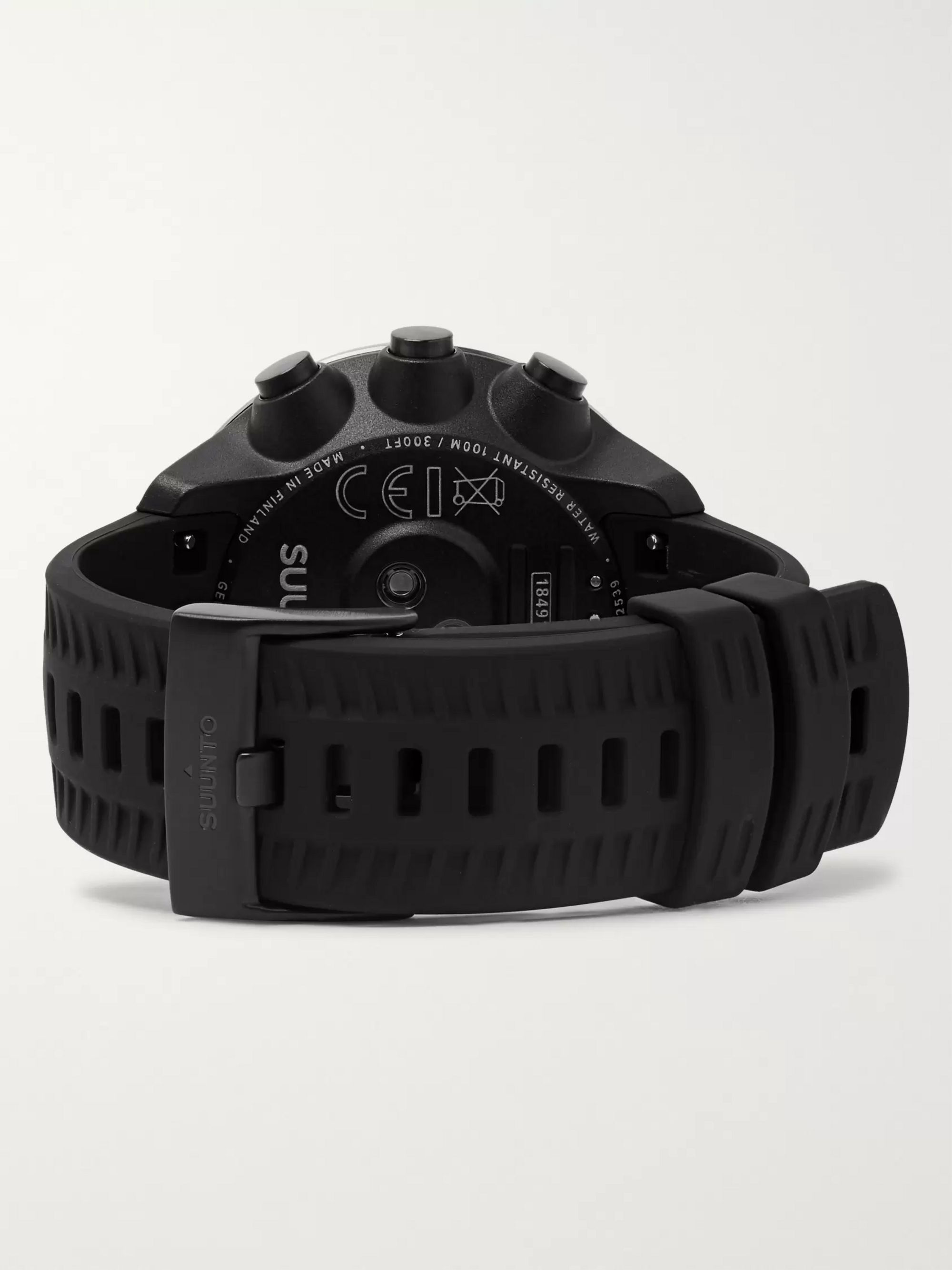 Suunto 9 Baro GPS Stainless Steel and Silicone Digital Watch