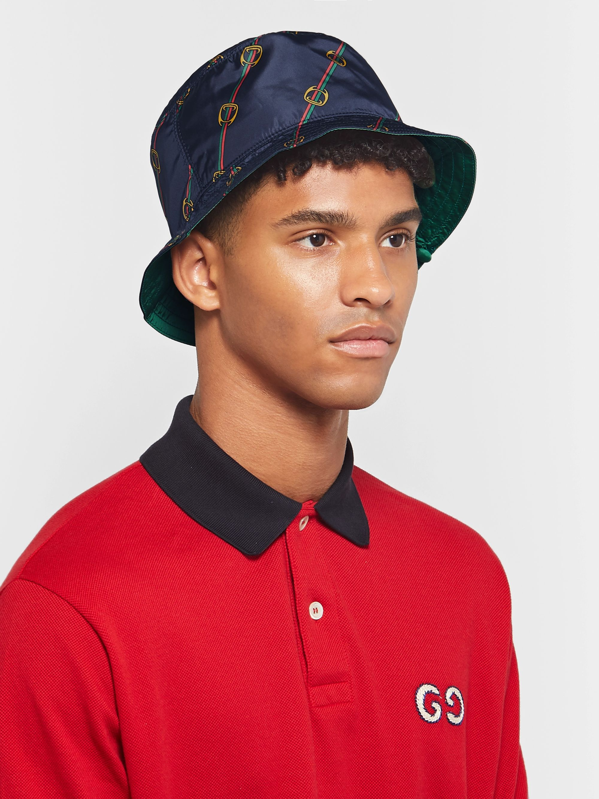 Gucci Reversible Printed Shell Bucket Hat