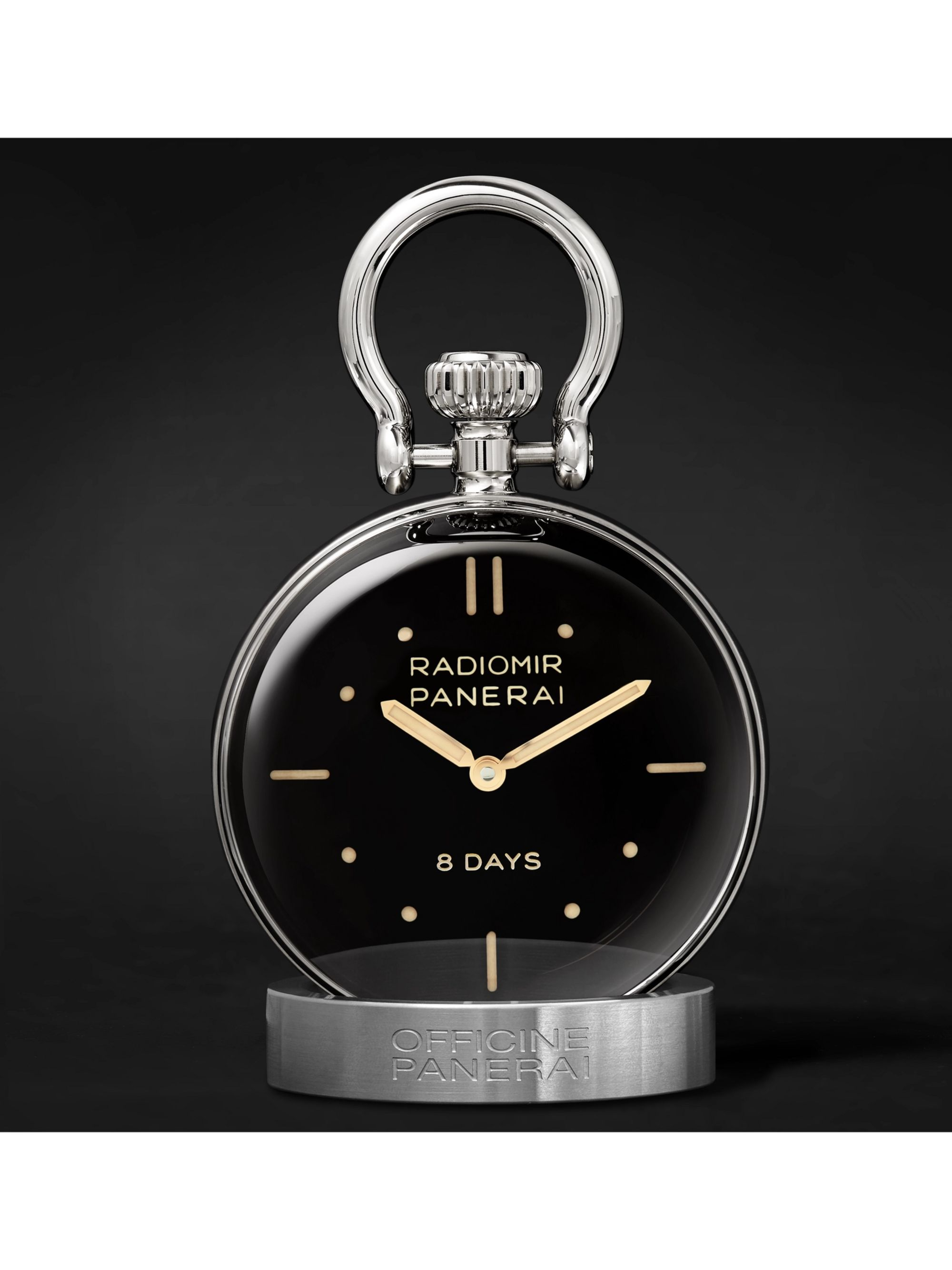 Panerai S.L.C. Stainless Steel Table Clock
