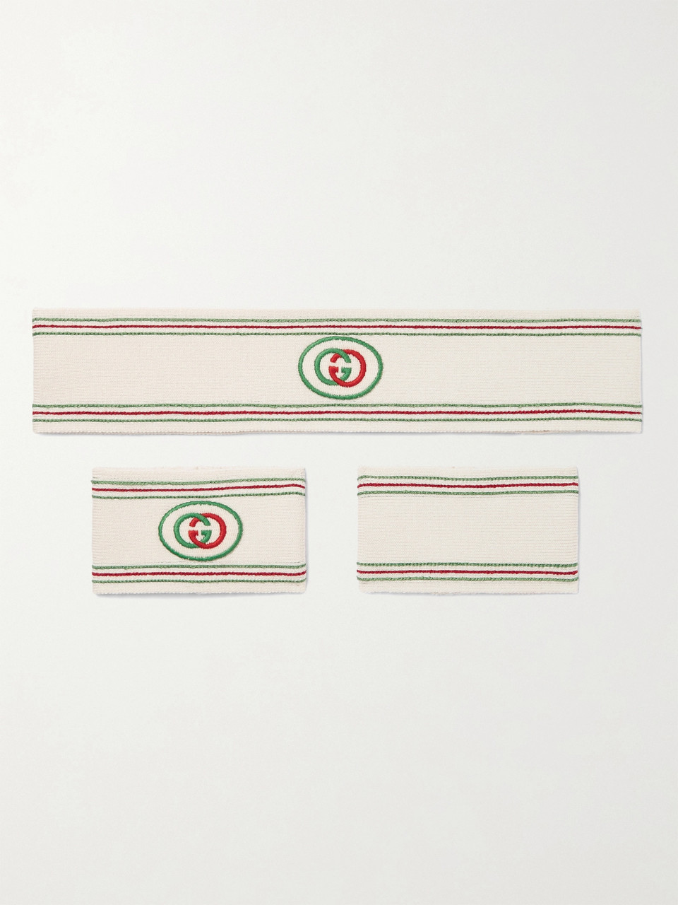 Gucci Logo-Detailed Cotton-Blend Headband and Wristbands Set