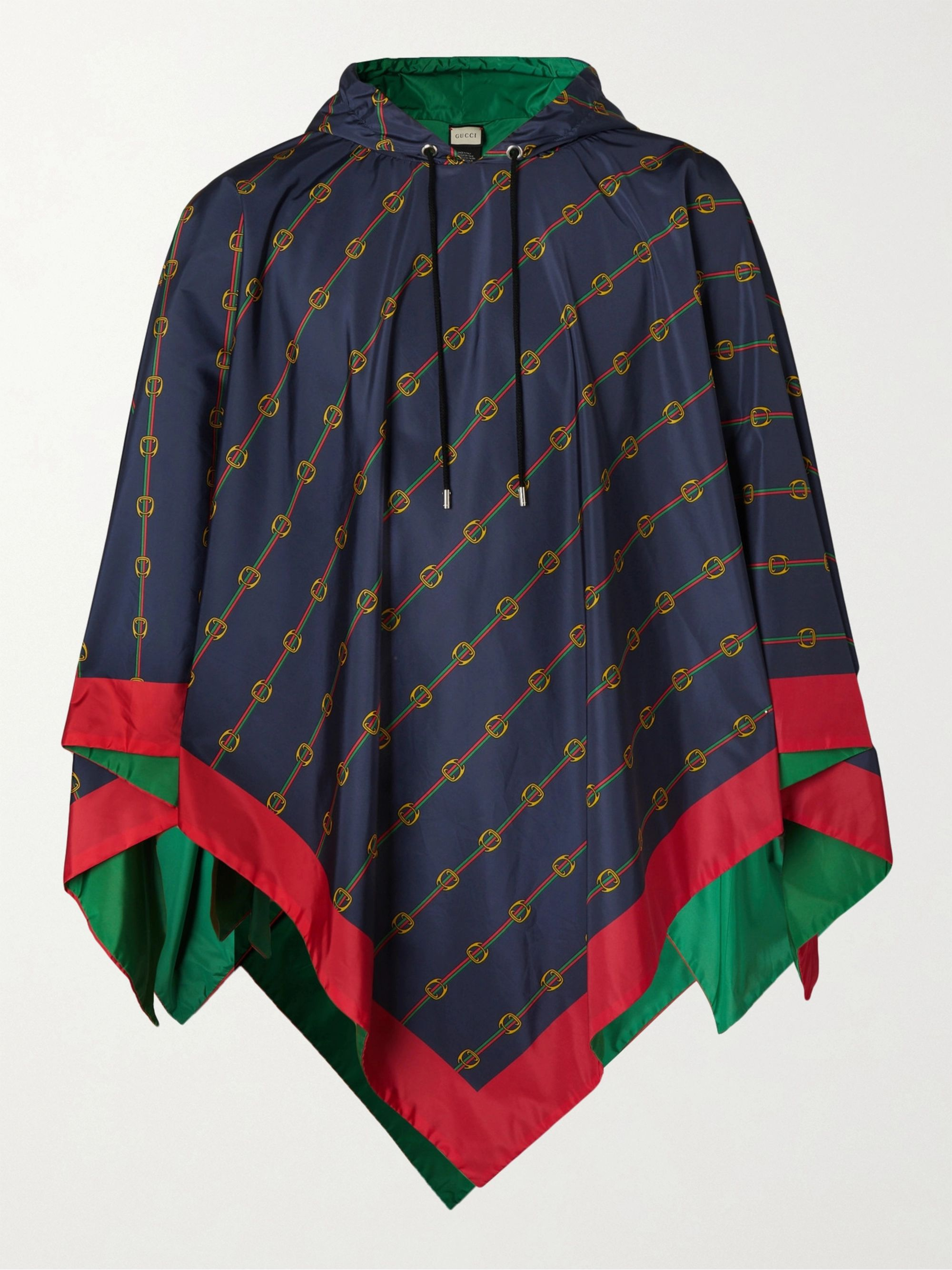 Gucci Reversible Logo-Print Nylon Hooded Poncho