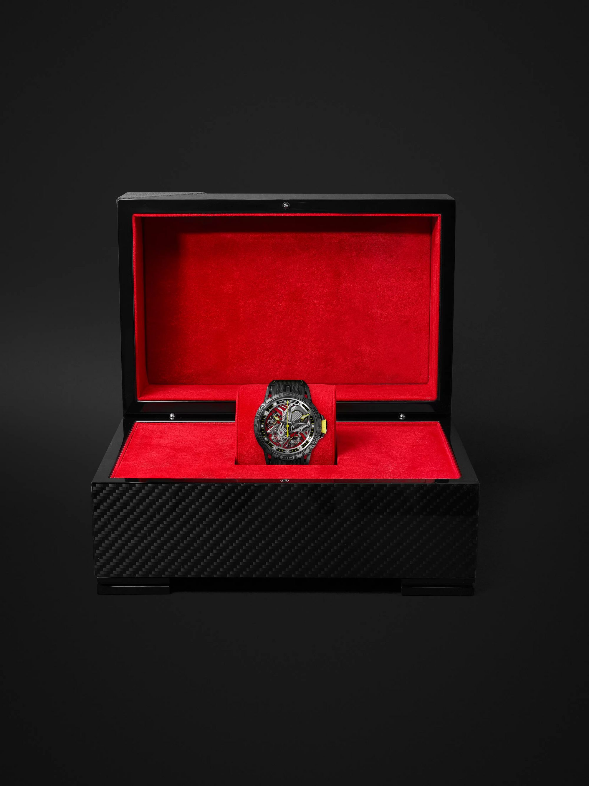 Roger Dubuis Excalibur Aventador S Limited Edition Skeleton 45mm Multilayer Carbon and Titanium Watch, Ref. No. 1146211