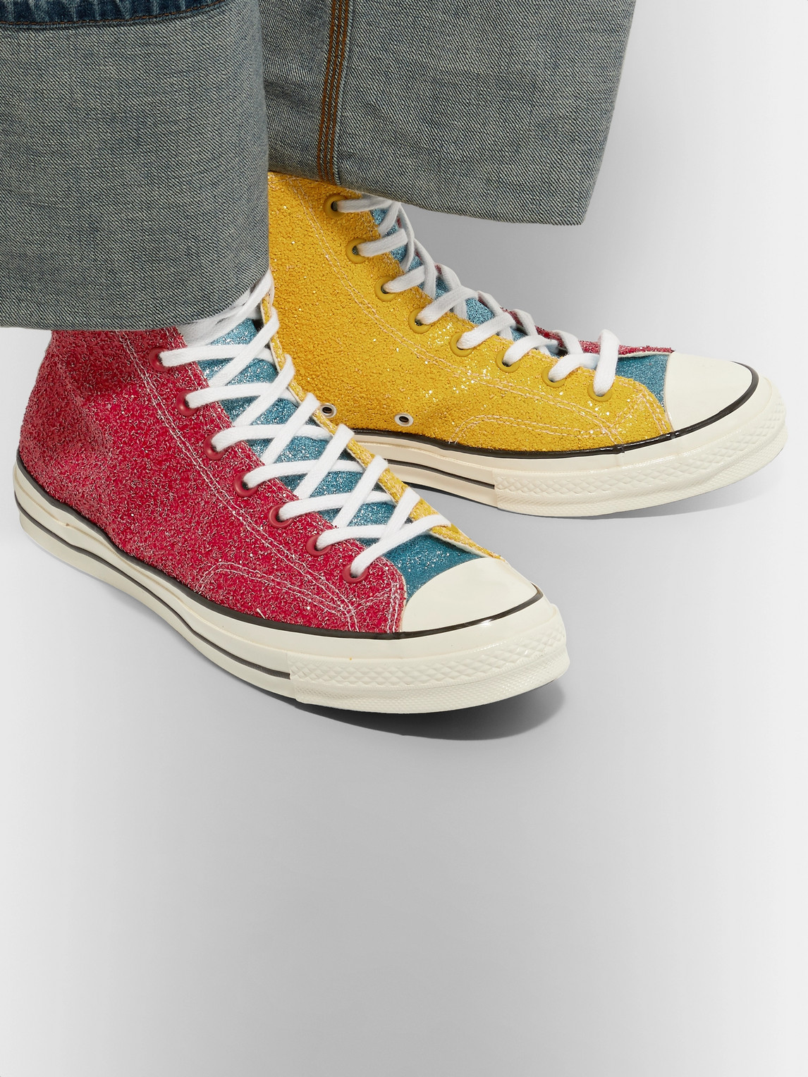 Converse Sneakers JW ANDERSON 1970S CHUCK TAYLOR ALL STAR GLITTERED CANVAS HIGH-TOP SNEAKERS