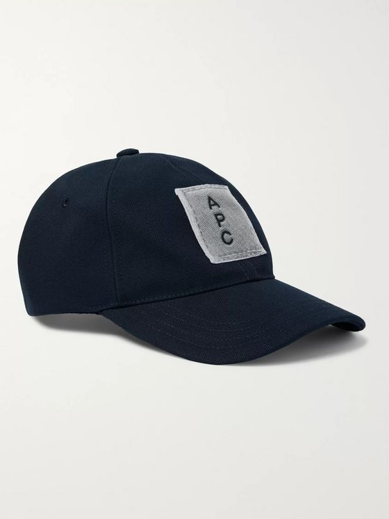 A.P.C. Logo-Appliquéd Cotton-Twill Baseball Cap