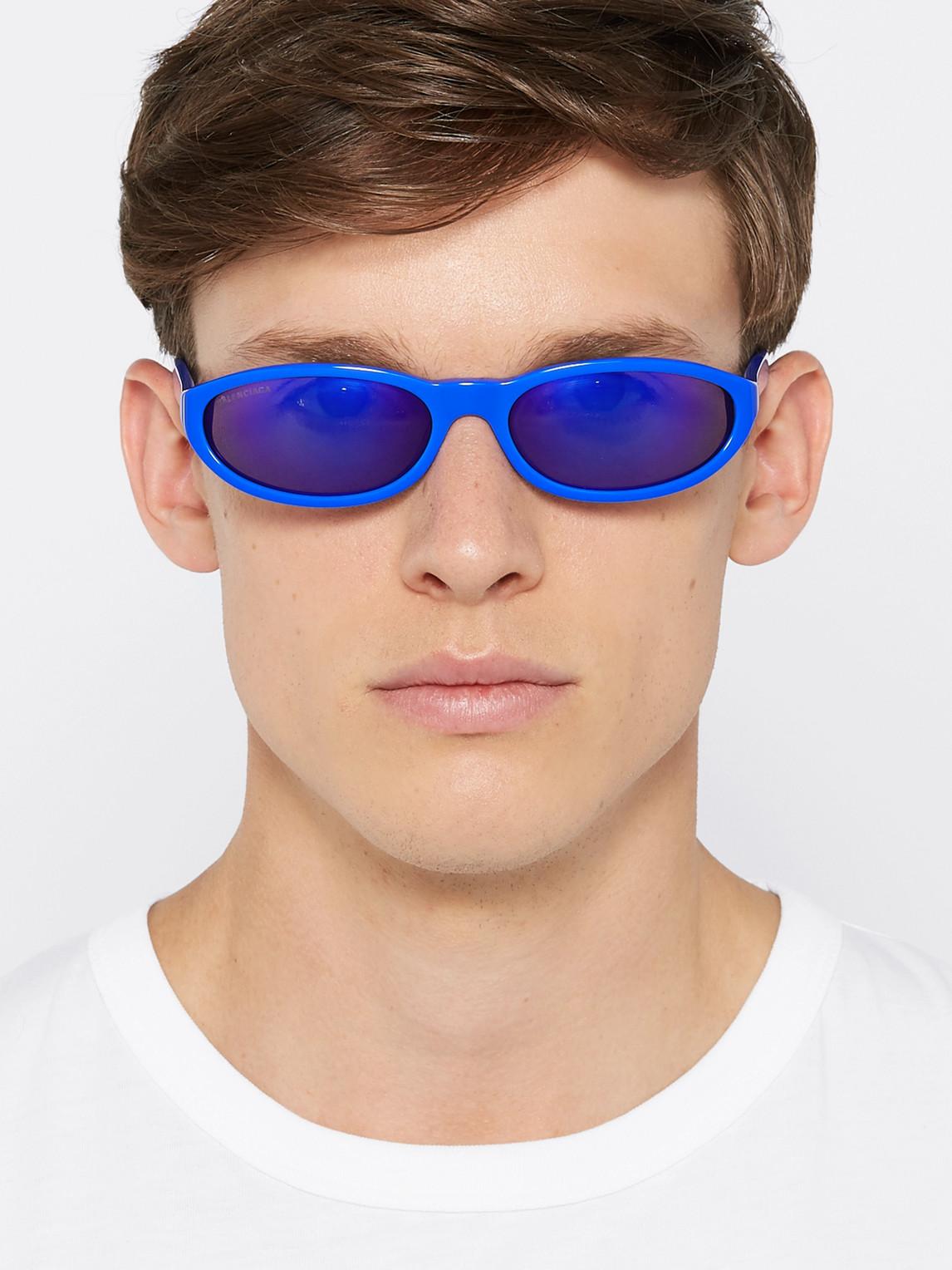 Balenciaga Sunglasses OVAL-FRAME ACETATE SUNGLASSES
