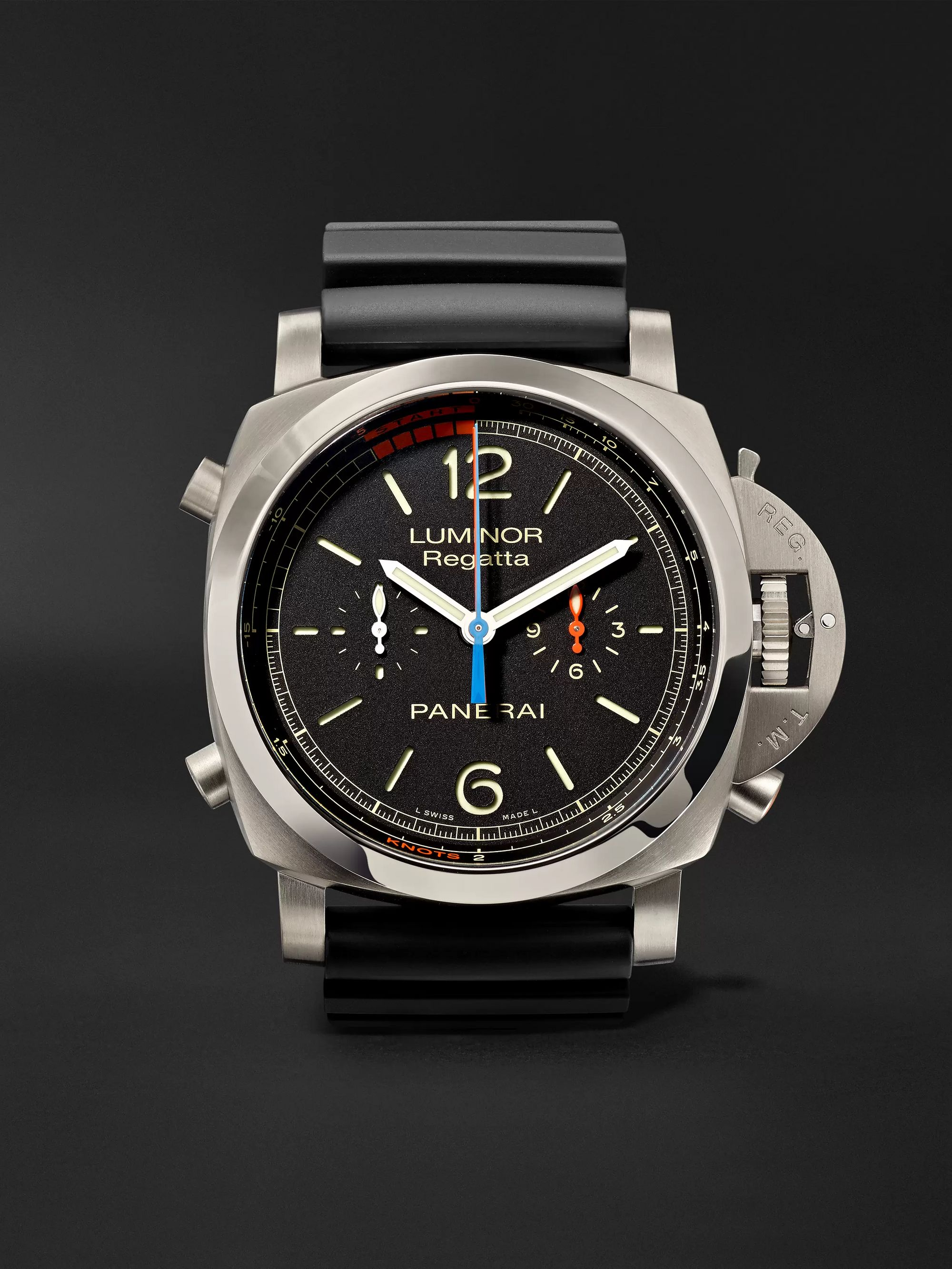 Panerai Luminor 1950 Regatta 3 Days Chrono Flyback Automatic Titanio 47mm Titanium and Rubber Watch, Ref. No. PAM00526