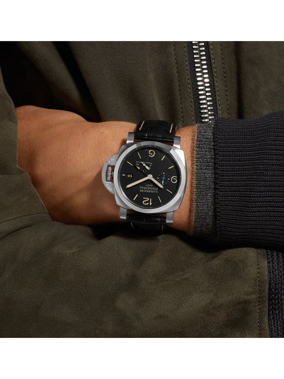 Panerai Luminor 1950 3 Days Acciaio 44mm Stainless Steel and Alligator Watch, Ref. No. PAM01321