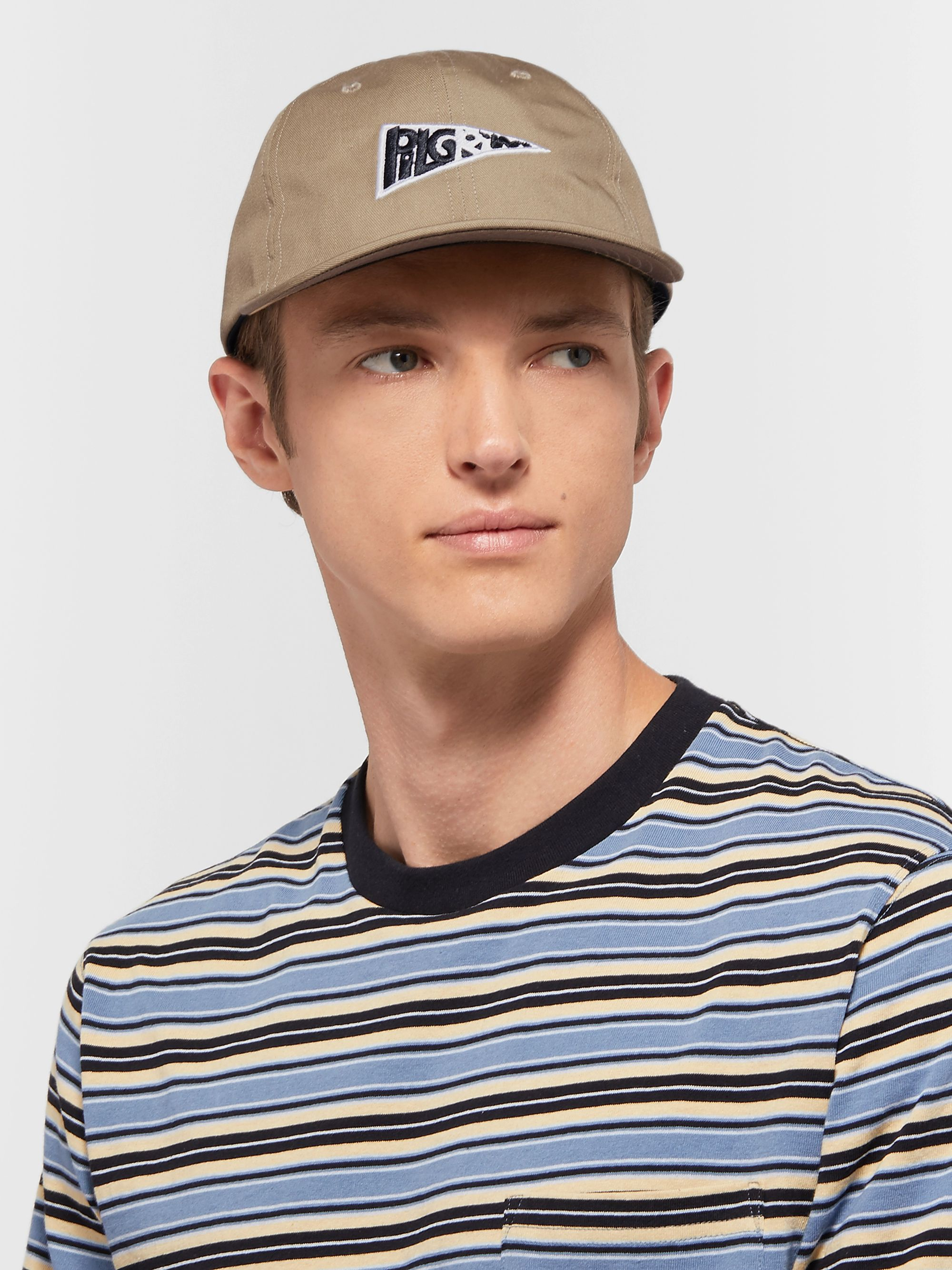 Pilgrim Surf + Supply Logo-Appliquéd Eco-Twill Baseball Cap
