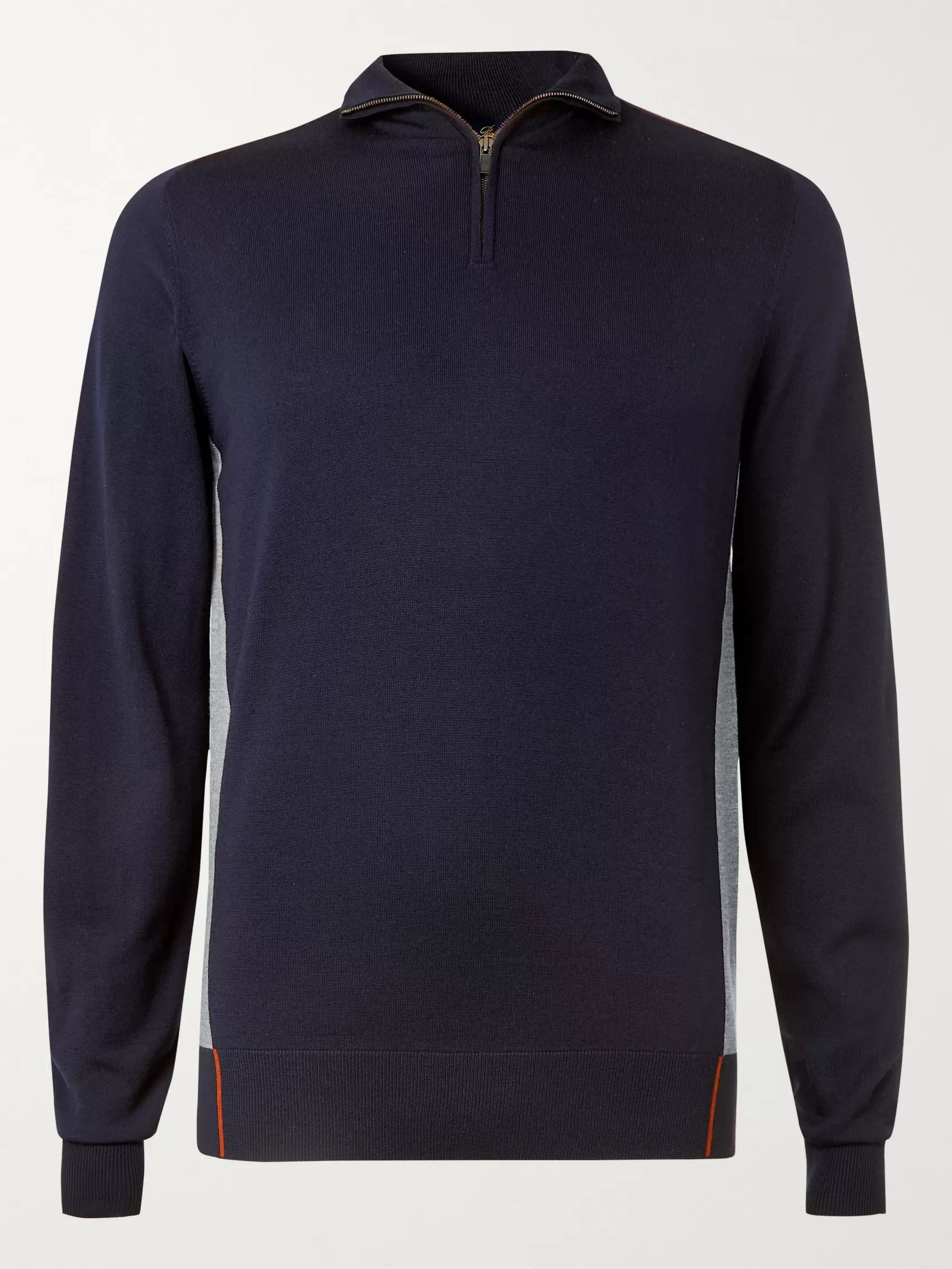 Loro Piana Virgin Wool Half-Zip Golf Sweater