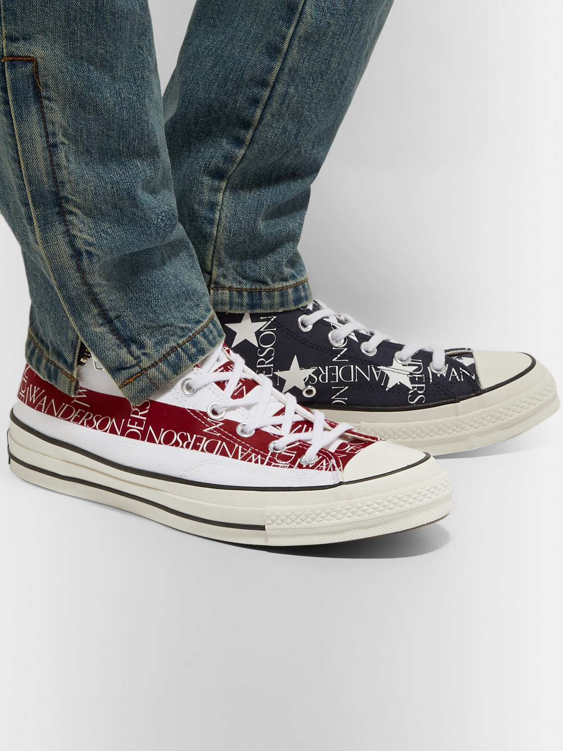 Converse Sneakers JW ANDERSON 1970S CHUCK TAYLOR ALL STAR LOGO-PRINT CANVAS HIGH-TOP SNEAKERS