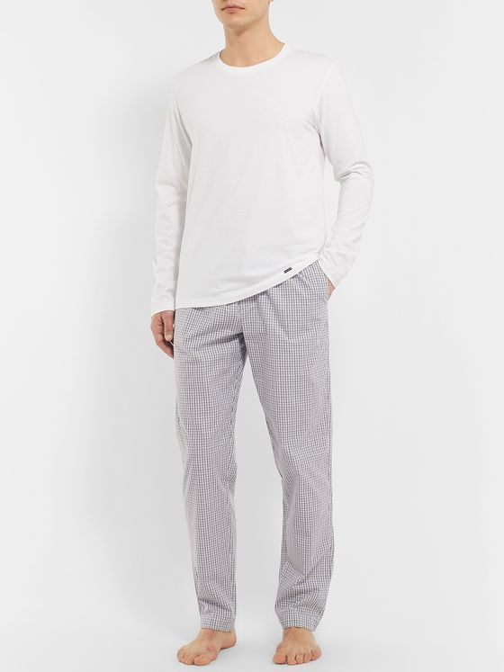 HANRO Checked Cotton Pyjama Trousers