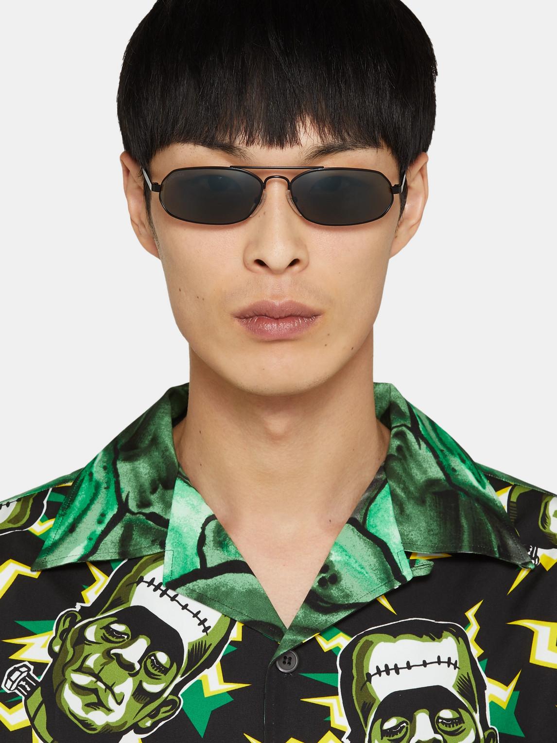 Balenciaga Sunglasses OVAL-FRAME METAL SUNGLASSES