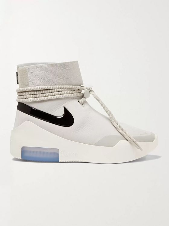 Nike + Fear of God Air Shoot Around Leather High-Top Sneakers