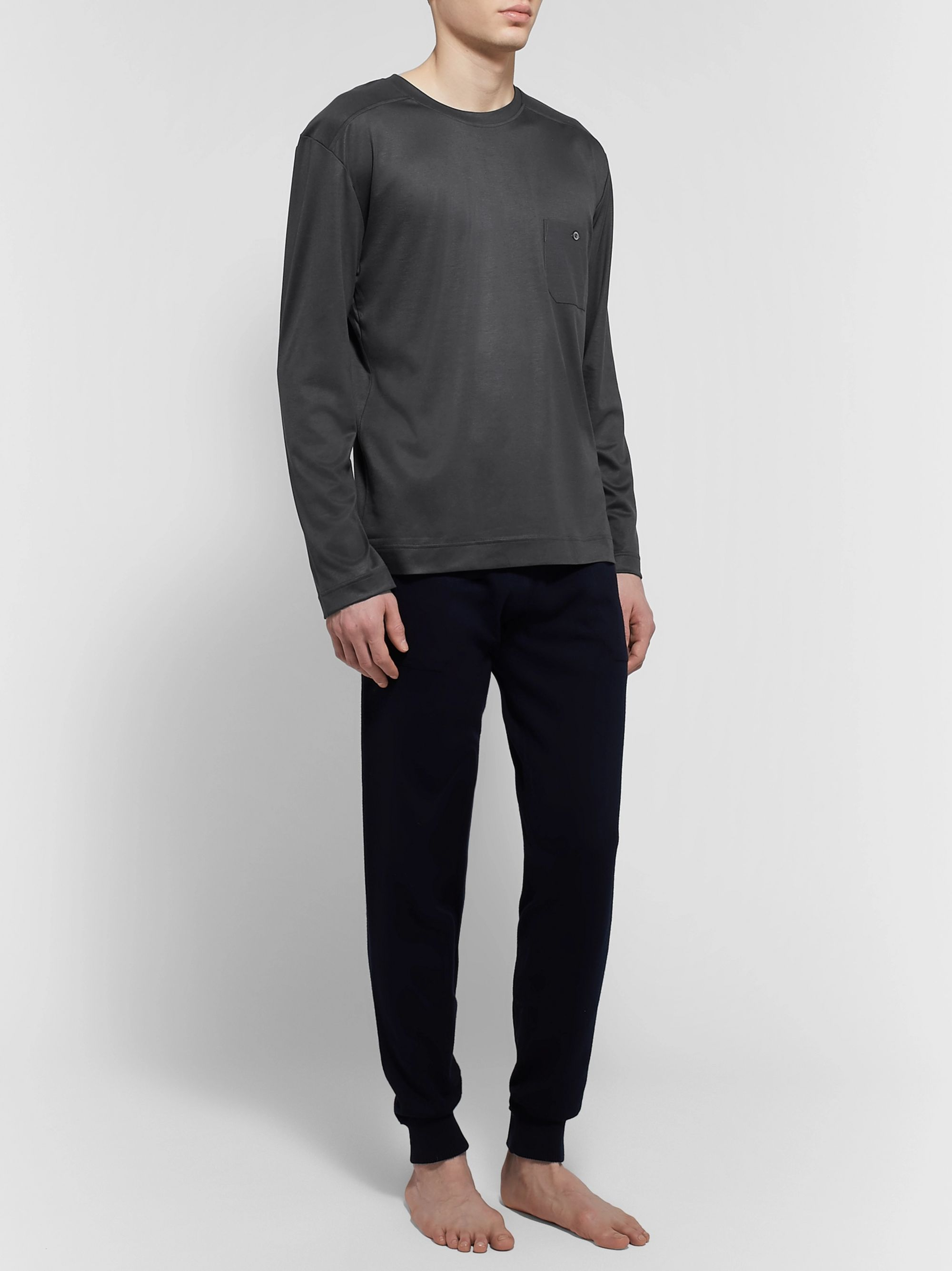 Zimmerli Cotton and Modal-Blend Pyjama T-Shirt