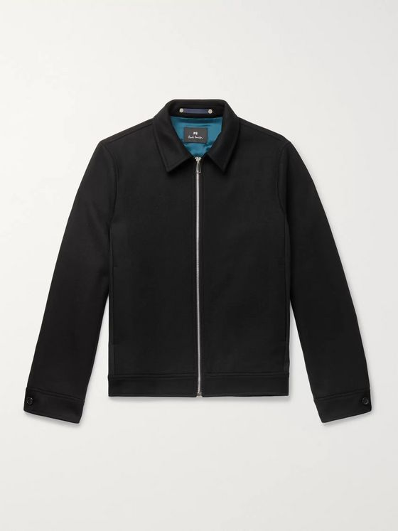 PS Paul Smith Two-Tone Wool-Blend Twill Blouson Jacket