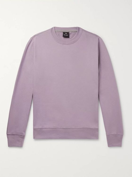 PS Paul Smith Loopback Organic Cotton-Jersey Sweatshirt