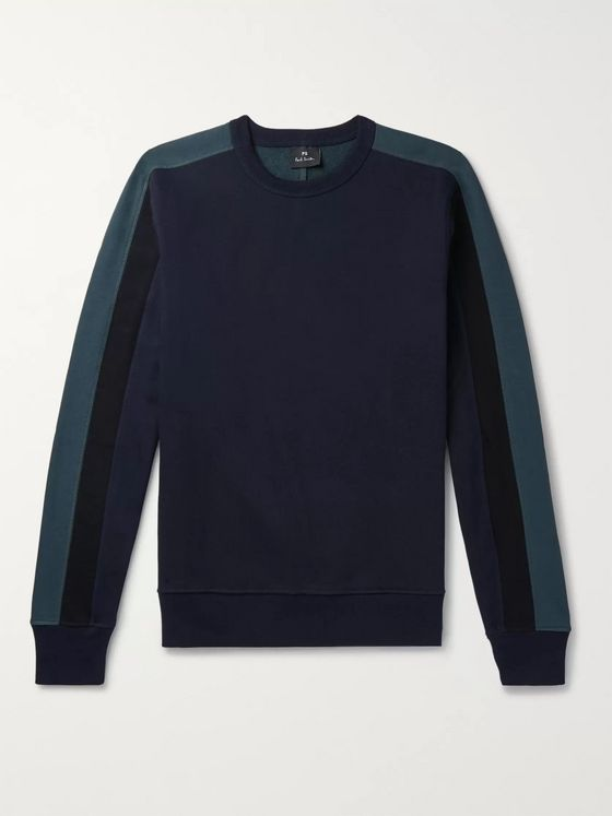 PS Paul Smith Colour-Block Loopback Cotton-Jersey Sweatshirt