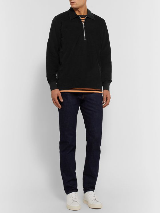 PS Paul Smith Cotton-Blend Corduroy Half-Zip Shirt