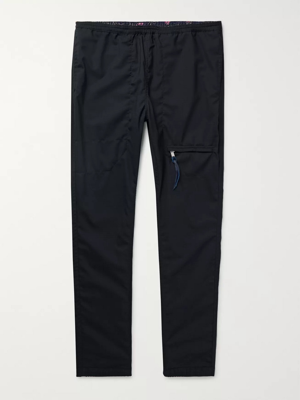 nonnative Midnight-Blue Educator Tapered Wool-Blend Ripstop Trousers