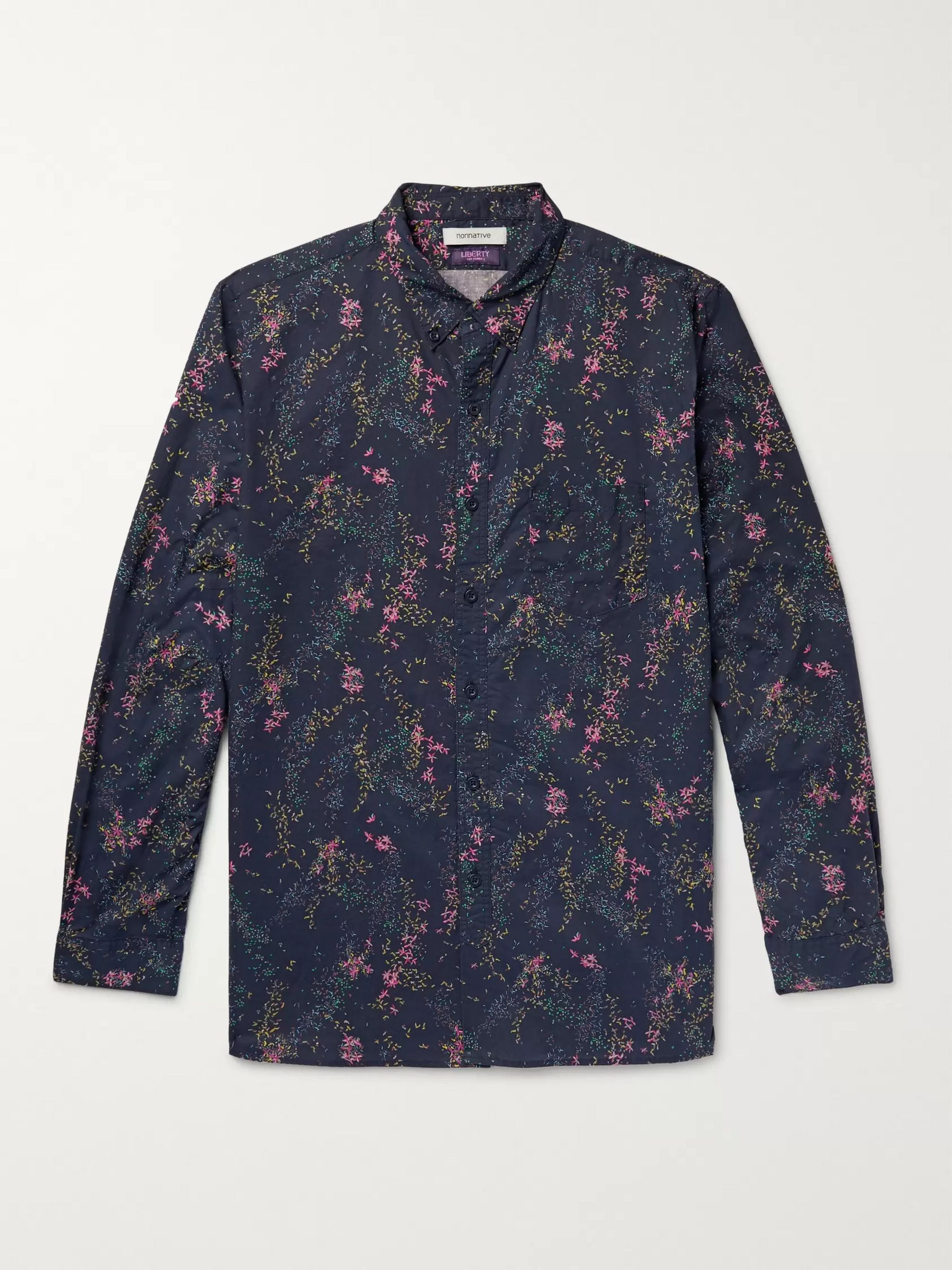 nonnative + Liberty London Dweller Button-Down Collar Printed Cotton-Poplin Shirt
