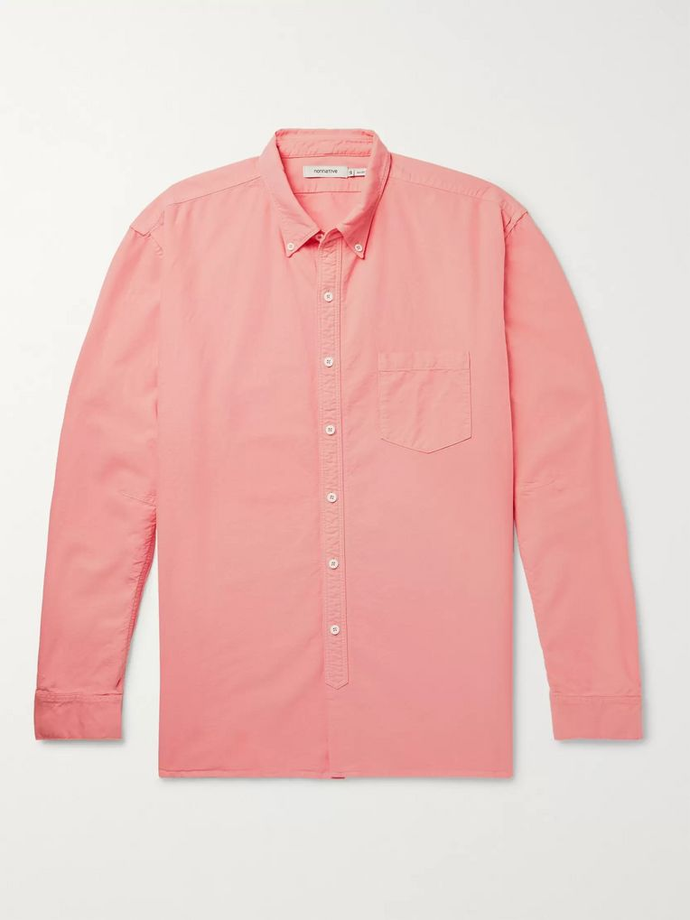 nonnative Dweller Button-Down Collar Cotton Oxford Shirt