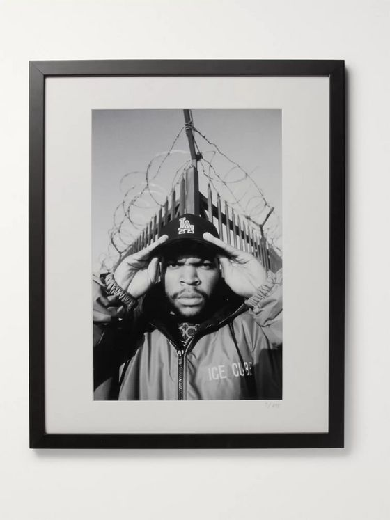 "Sonic Editions Framed 1992 Ice Cube Print, 16"" x 20"""