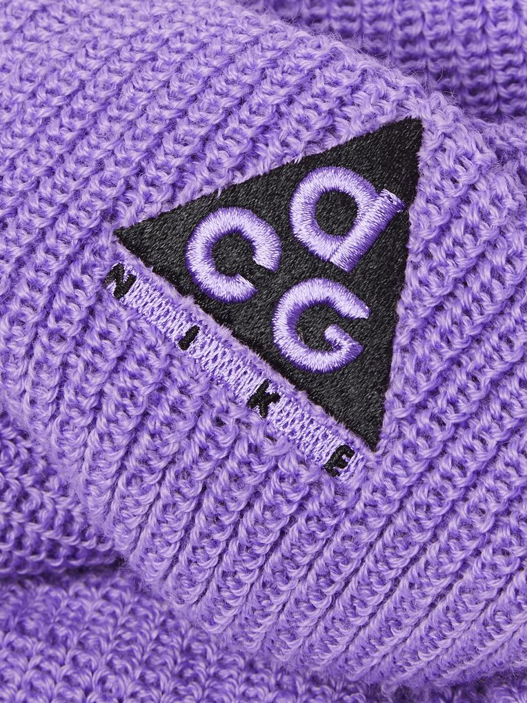 Nike ACG Logo-Embroidered Ribbed-Knit Beanie