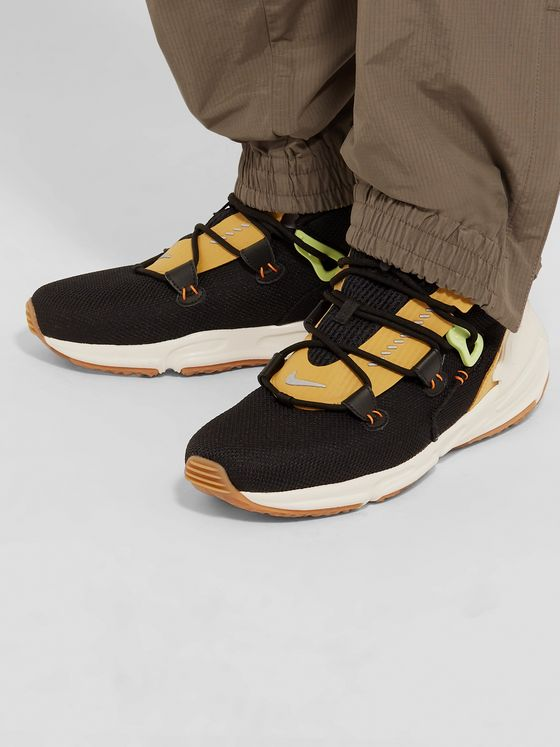 Nike Zoom Moc Mesh and Suede Sneakers