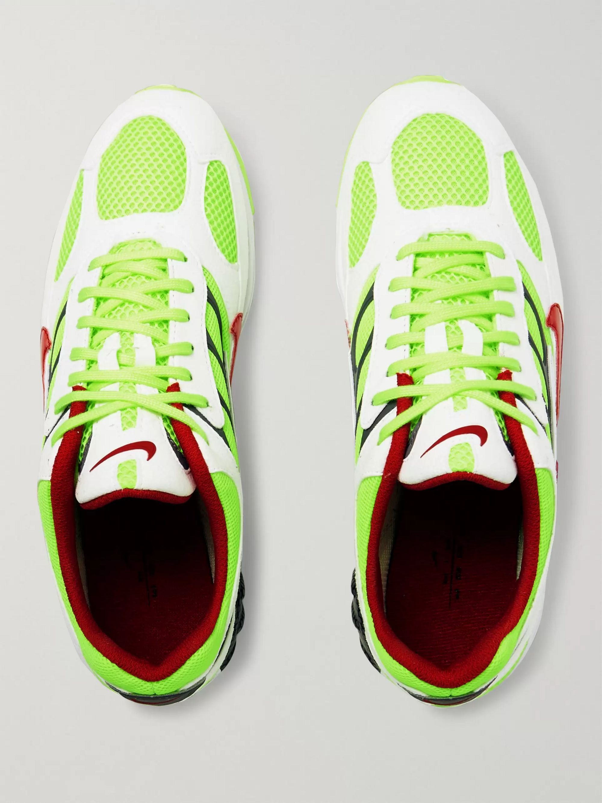 Nike Air Ghost Racer Leather-Trimmed Mesh Sneakers