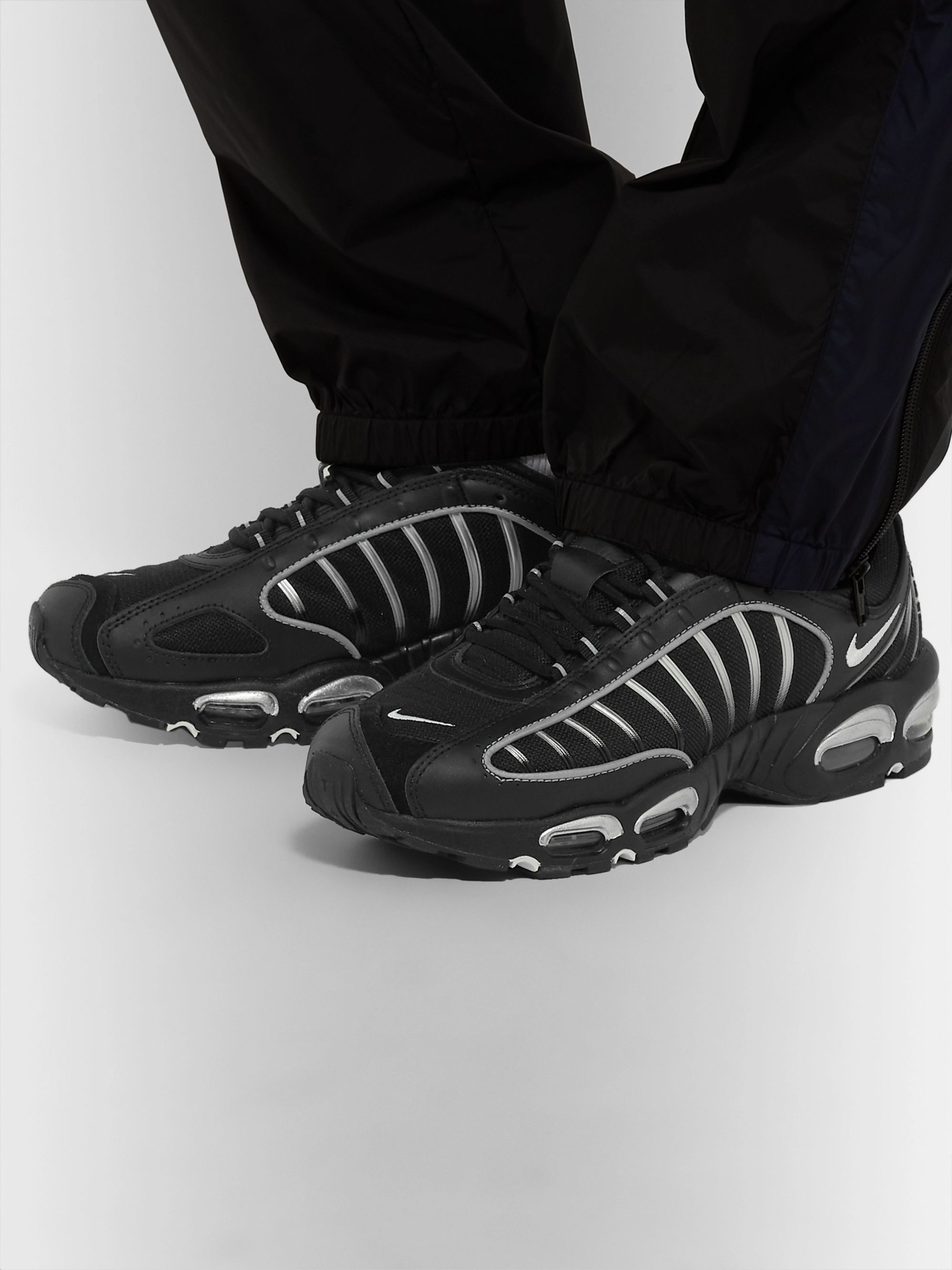 Nike Air Max Tailwind IV Mesh and Leather Sneakers