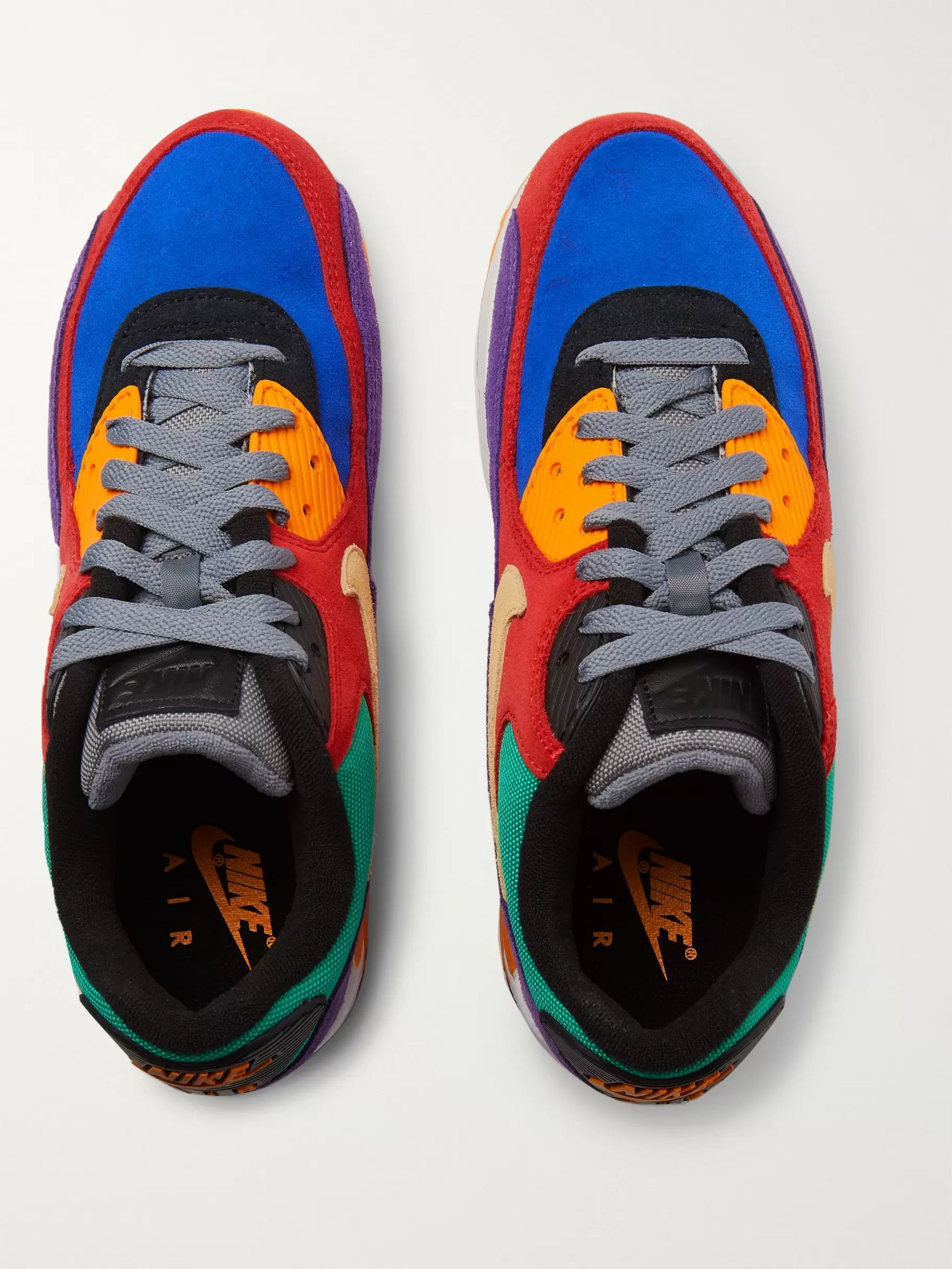 Air Max 90 QS Viotech Rubber Trimmed Suede and Mesh Sneakers