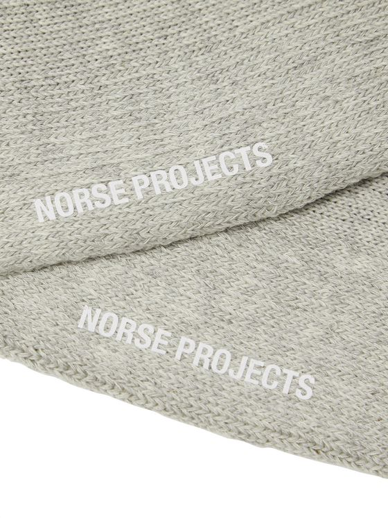 Norse Projects Bjarki Striped Stretch Cotton-Blend Socks