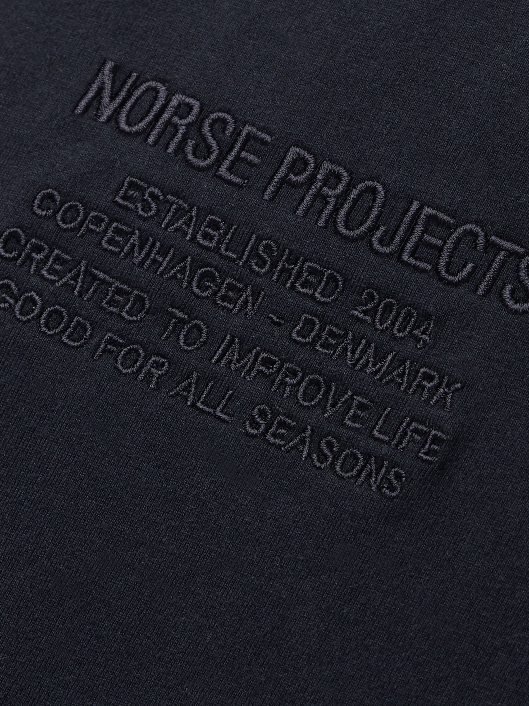 Norse Projects Niels Logo-Embroidered Cotton-Jersey T-Shirt