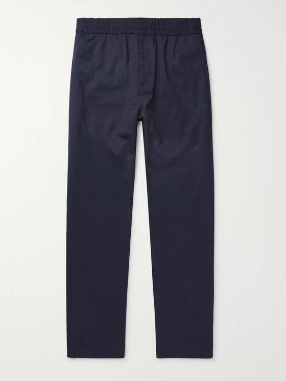 Norse Projects Navy Luther Wool-Blend Trousers