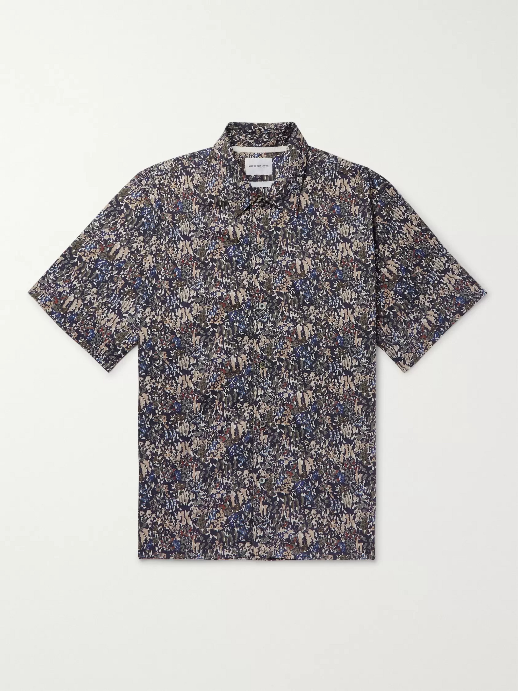 Carsten Printed Cotton Shirt by Norse Projects