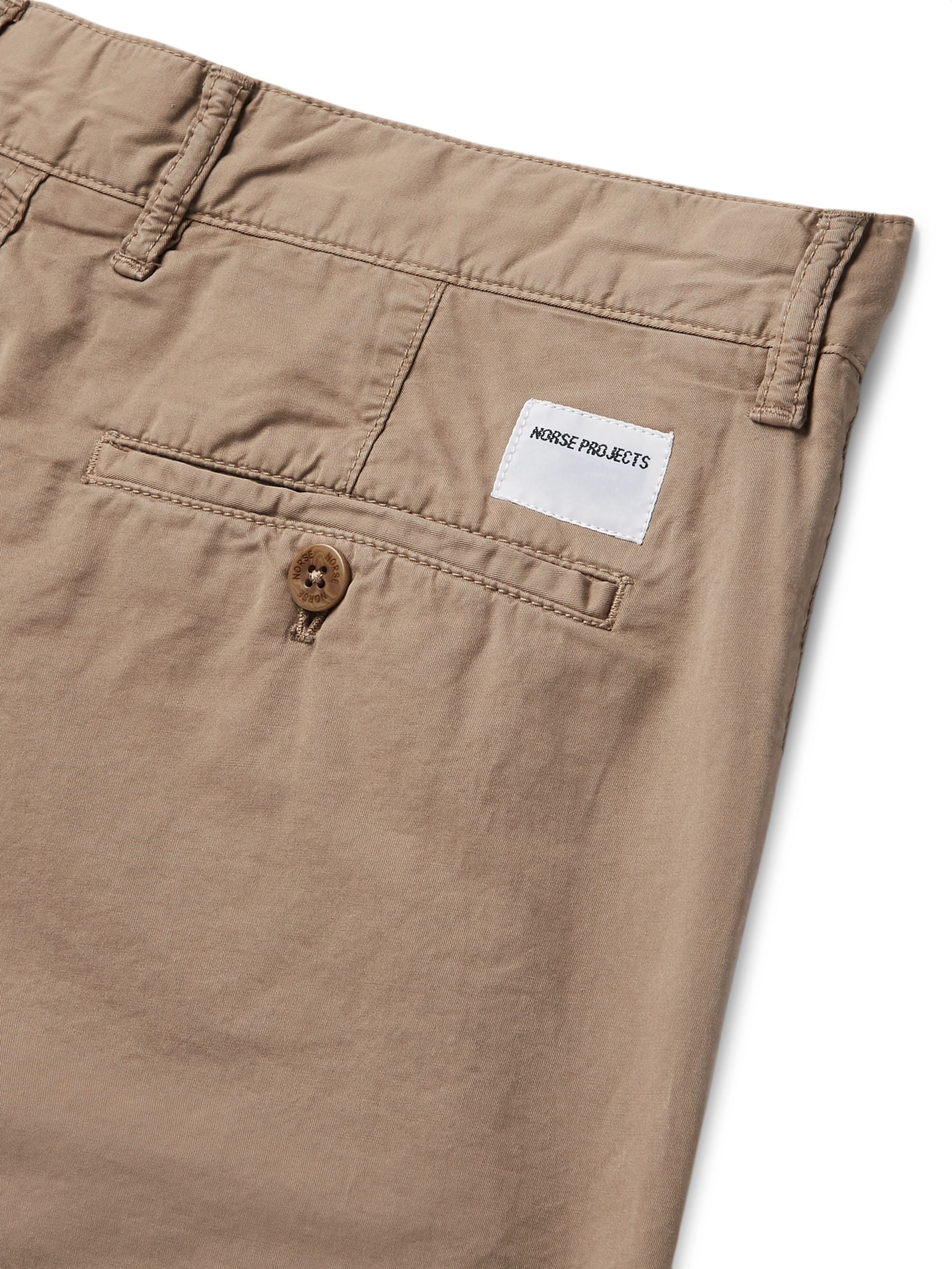 Norse Projects Aros Slim-Fit Garment-Dyed Cotton-Twill Shorts