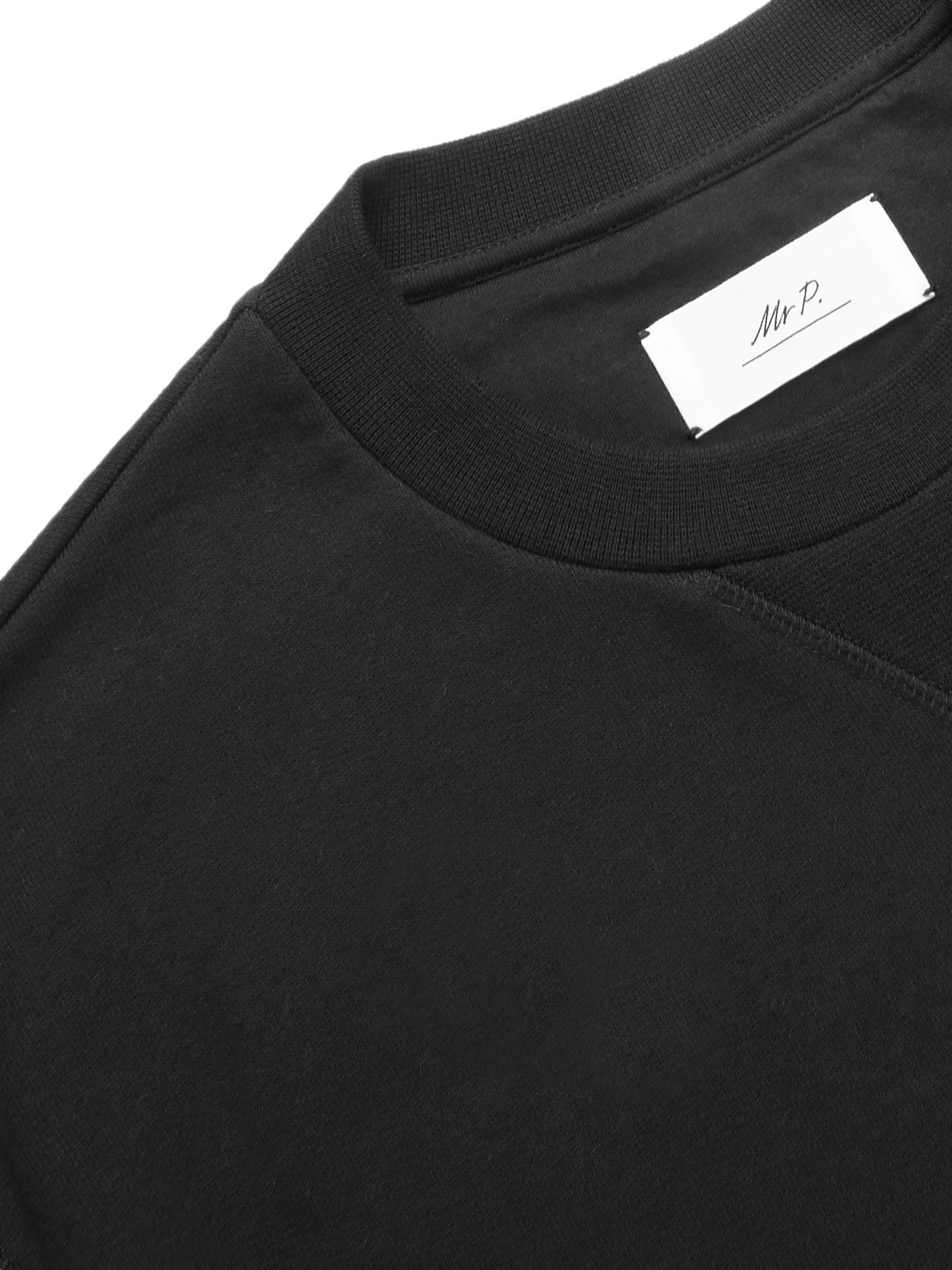 Mr P. Loopback Cotton-Jersey Sweatshirt