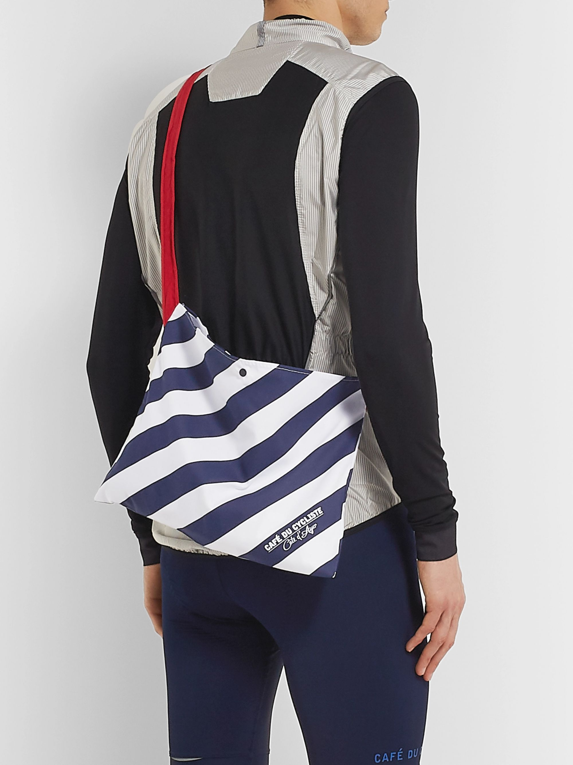 Cafe du Cycliste Striped Woven Musette Bag