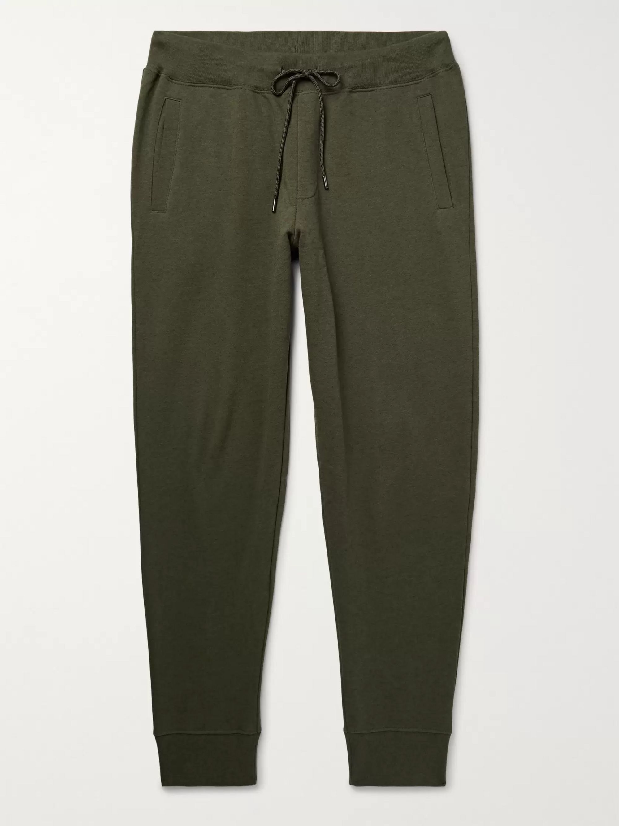 Handvaerk Slim-Fit Tapered Pima Cotton and Baby Alpaca-Blend Sweatpants