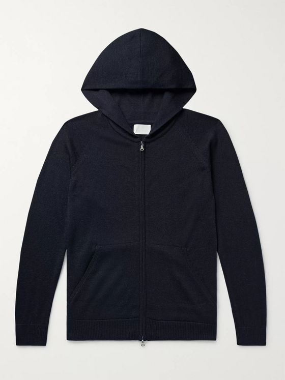 Handvaerk Royal Alpaca, Cashmere and Silk-Blend Zip-Up Hoodie