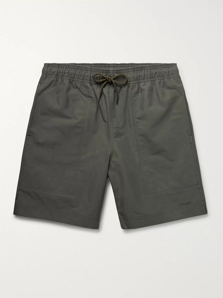 Filson River Water Cotton-Blend Canvas Drawstring Shorts