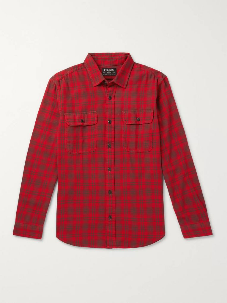 Filson Scout Checked Cotton-Flannel Shirt