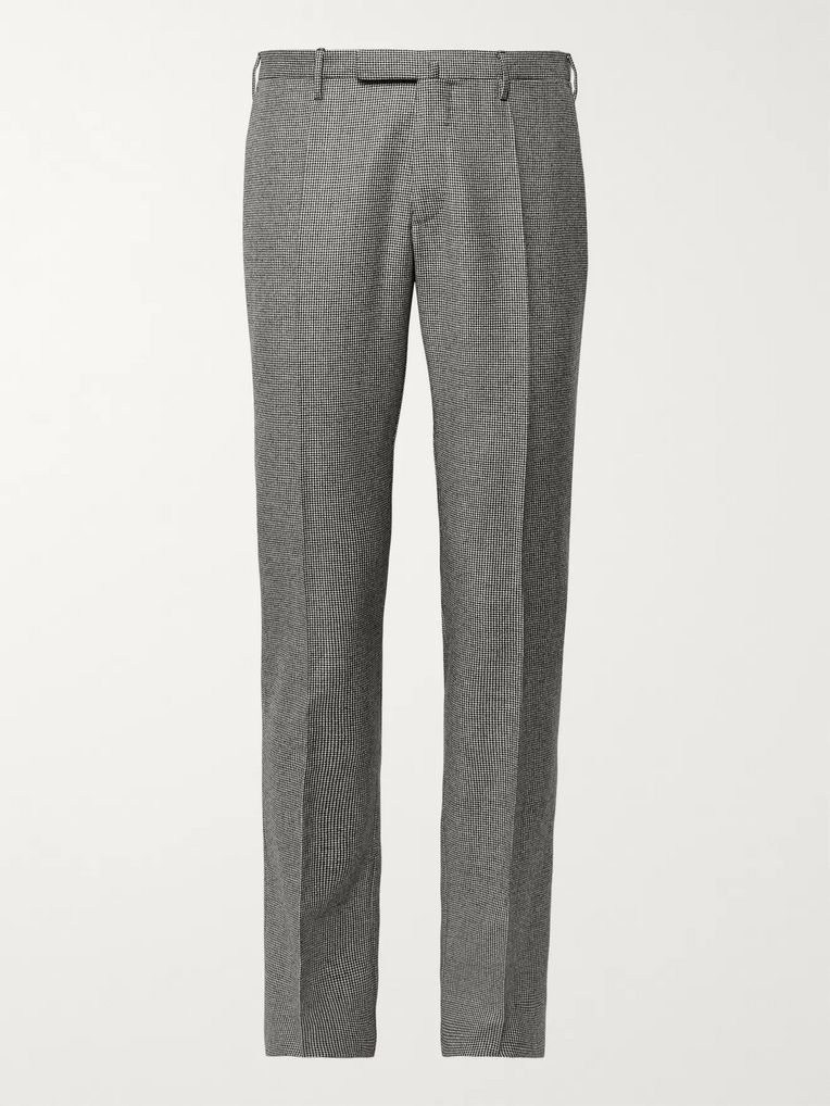 f4af8e36cd74e Slim-Fit Puppytooth Virgin Wool Trousers