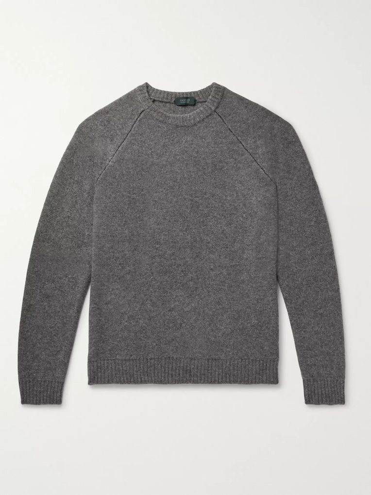 Incotex Slim-Fit Virgin Wool and Cashmere-Blend Sweater
