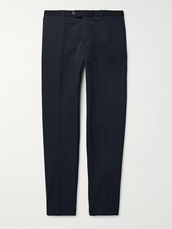 Incotex Urban Traveller Navy Slim-Fit Tech-Twill Trousers