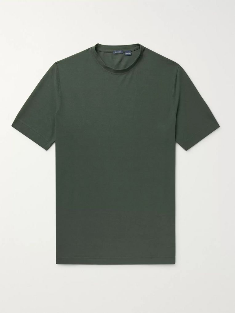 Incotex Slim-Fit Ice Cotton-Jersey T-Shirt