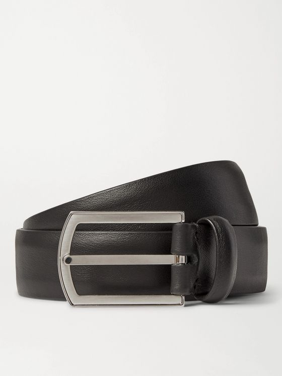 Loro Piana 3cm Black Leather Belt