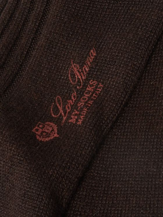 LORO PIANA Ribbed Cashmere-Blend Over-the-Calf Socks
