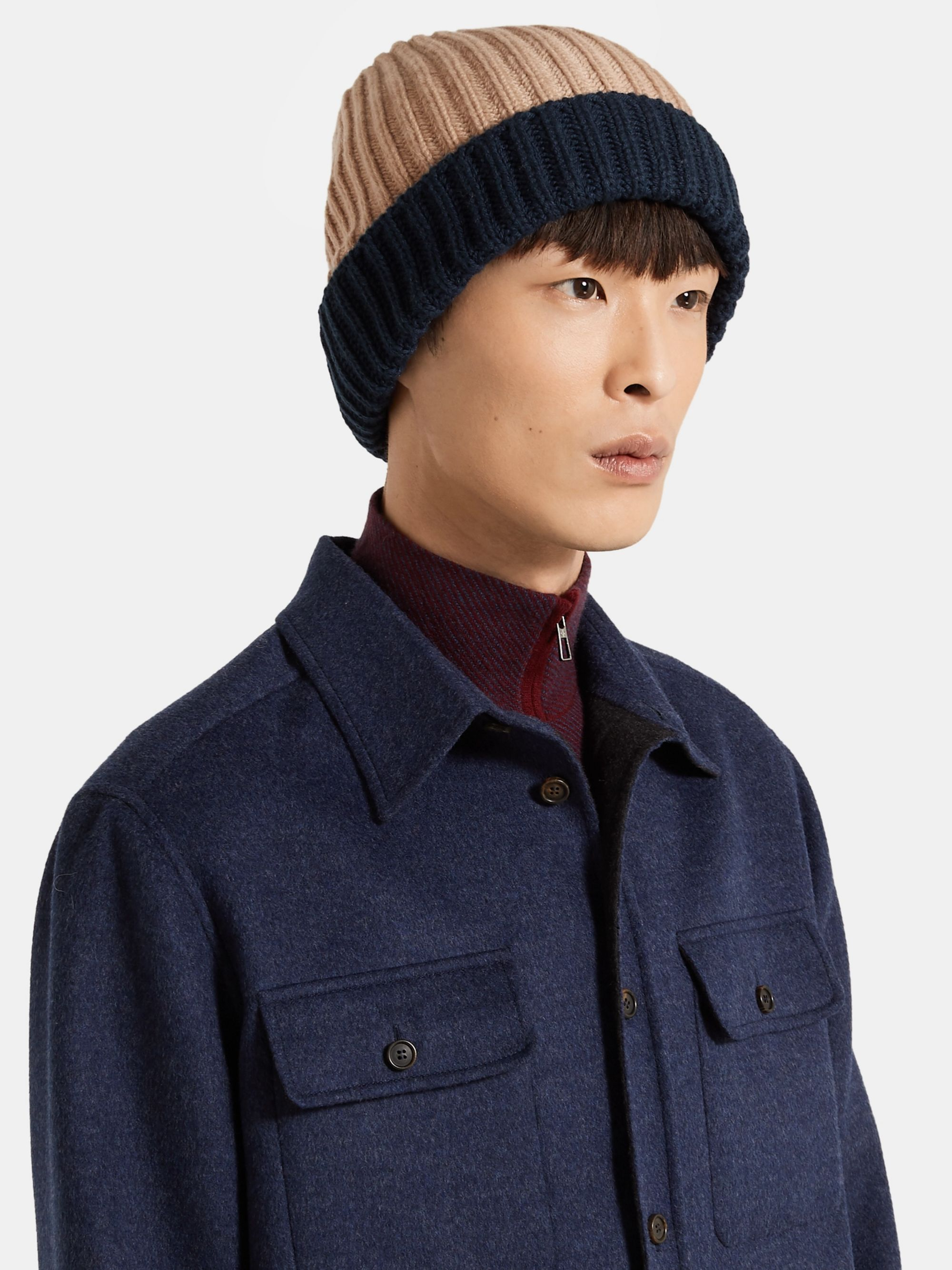 Loro Piana Ribbed Colour-Block Cashmere Beanie